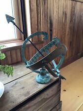 Verdigris Antique/Vintage Patinated Bronze Armillary Old Garden Sundial