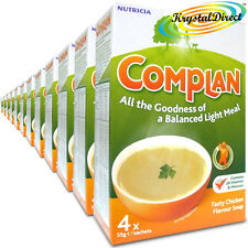 12x Complan Chicken Nutrition Vitamin Rich Supplement Protein Energy Soup 4x55g