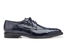 Belvedere Siena Men's Shoes Genuine Ostrich Lace up Navy 1463