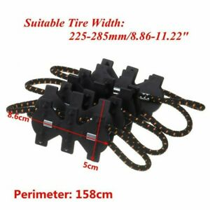 Winter Anti-skid Tire Chain Mud Wheel For 225mm-285mm Safe Driving Accessories