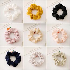 5PCS Wrinkle Elastic Hairband Hair Scrunchies Ponytail Tie Rubber Band Hair Rope