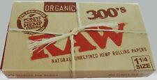 Raw 300's Organic Hemp Rolling Papers 1.25