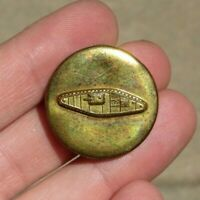 WW2 US ARMY MILITARY Tank / Armor ENLISTED Collar Device Clutch Back