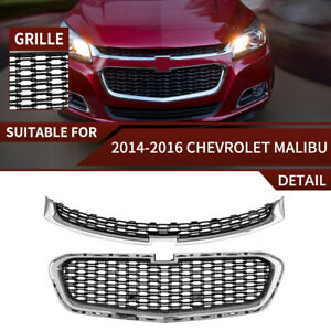 Fits 2014-2016 Chevrolet Malibu Front Upper and Center Grille Set 2PCS Factory