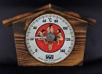 Vintage amusant thermomètre pour sauna marque Vari made in  Finlande