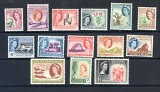 1953 SOUTHERN RHODESIA QEII DEFINITIVE SET OF 14 MINT HINGED