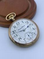 Antique 1913 Hampden 16s Men's Pocket Watch Grade: Wm. McKinley 17j Gold Filled