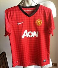 MAGLIA CALCIO MANCHESTER UNITED NIKE AON FOOTBALL SHIRT JERSEY TRIKOT 12-13 YRS