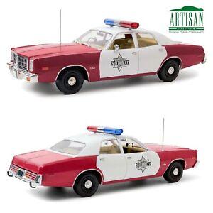 1/18 Greenlight Dodge Monaco 1977 Finchburg County Sherif Livraison Domicile