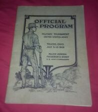 1909 Toledo Ohio Military Tournament Program United States Army great photo book