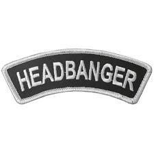 HEADBANGER - Aufnäher Patch - Banner gestickt 12x4cm