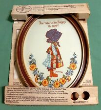 "Vintage Holly Hobbie Stitchery Kit - ""The Time to be Happy is Now!"" Very Cute!"