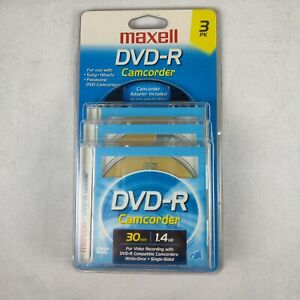 Maxell DVD-R Camcorder Blank 30 MInutes 1.4GB 3 Pack