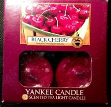 """Yankee Candle """"Black Cherry""""  pack of 12 tea lights candles New"""