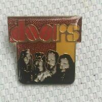 Vintage The Doors Band Rock Music Lapel Pin Singer Performer Gold Tone Enamel