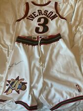 Alan Iverson game used autographed Jersey and shorts