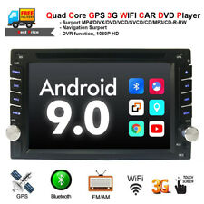 6.2 inch 2Din Dash HD DVD Player Car GPS Wifi Andriod 9.0 Radio Mirror Link CAM