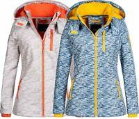 SUBLEVEL Damen Soft shell Jacke Herbst Softshell jacke Outdoor Regen übergangs