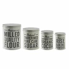 Mason Cash Set Of 4 Storage Tins Home Kitchen Food Flour Sugar Cocoa Canister