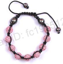 10MM Crystal Bracelet Disco Ball beads Bracelets Christmas Gift 20 Colours