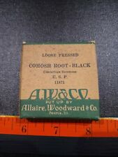 Vintage Cohosh Root-Black Crude Drugs Box With Content.