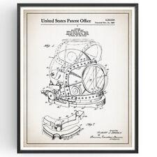 Blueprint de impresión de patente de casco de buceo Decoración Poster Vintage Regalo Pared Arte