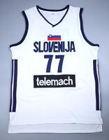 Luka Doncic Jersey 77# Slovenia Euroleague Sewn Basketball Jersey
