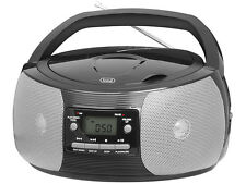 Trevi Portable Stereo Boombox with CD Player FM Radio MP3 Playback Black