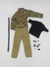 Easy & Simple BRAGG 26007 1/6 Multicam Shirt Revolvr Tan Pants Shirt Patches Lot