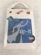 NEW ZIPIT ZIP IT Pink Green Large TWO HANDLED CABANA TOTE BAG HIP ZIP