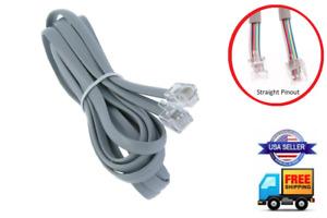 STRAIGHT 6-PIN CABLE REMOTE WIRE CONTROL LEGGETT & PLATT ADJUSTABLE BED SILVER