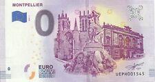 2019 N°001545 MONTPELLIER billet touristique euroscheine souvenir 0 €