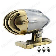 Old School Brass Motorcycle Invader Torpedo Finned Tail Brake light Lamp SV CB