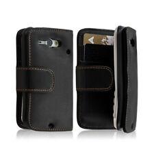 Housse Coque Etui Portefeuille pour HTC ChaCha couleur noir