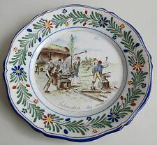 Saint-Clément. Keller et Guérin. Assiette en faïence Fabrication des armes 1793