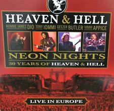 Heaven & Hell Neon Lights Live CD Music Europe Vinnie Appice, Dio, Ronnie James