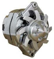 NEW CHROME CHEVY ALTERNATOR 105 AMP ONE 1-Wire 65-85 6 GROOVE BILLET PULLEY