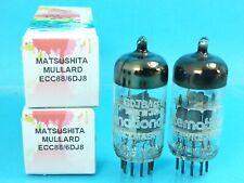 MATSUSHITA MULLARD 6DJ8 ECC88 VACUUM TUBE 1970's MATCHED PAIR SUPER SWEET TONE