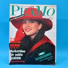 Pramo 10/1990 Praktische Mode Schnittmuster Jacken Bommeln Kindermode Mantel A