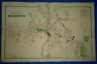 Vintage Original 1871 ROCHESTER, NH MAP ~ MARKET ST - NORWAY PLAINS Co - ELM ST