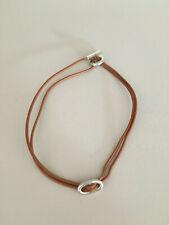 Superbe collier skipper Hermès avec cordon en cuir