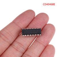 10PCS CD4046BE Inline DIP-16 Micropower Phase Locked L.US nhTEUSMWUS
