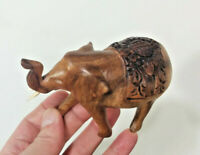 Hard Wood Elephant, Small - Hand Carved Statue, Art - Made In Bali, Indonesia