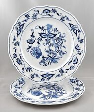 2 Blue Danube Japan Salad Plates Blue Onion Pattern Mixed Mark Ribbon Rectangle