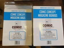 More details for 100 x magazine bags and boards comic concept crystal clear 235 x 305 38mm flap