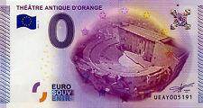 BILLET 2015 ZERO 0 EURO SOUVENIR 84 ORANGE THÉÂTRE ANTIQUE EURO SCHEIN BANKNOTE