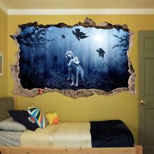 Wolf Lune Nuit Home 3D Autocollant Mural Art Poster Autocollants Murales Kids Room Z45