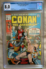 Conan the Barbarian #2 - CGC 8.0 - White Pages - Marvel 12/1970 - Free Shipping