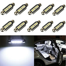 10x 42MM 5050 4-SMD White Car Canbus Festoon Dome Map Interior LED Light Bulb