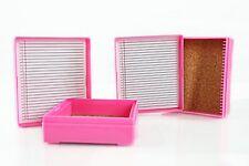 25 piece Microscope Slide Box, Pink - Microscope Slide Holder